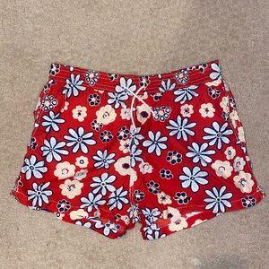 Men's Vilebrequin red swim trunks
